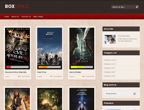 Box Office Blogger Theme