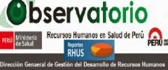 OBSERVATORIO RECURSOS HUMANOS EN SALUD