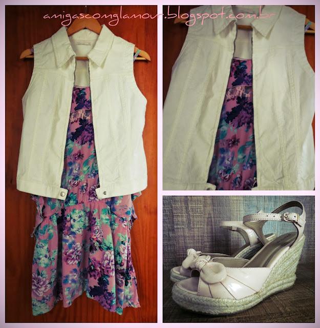 colete e vestido