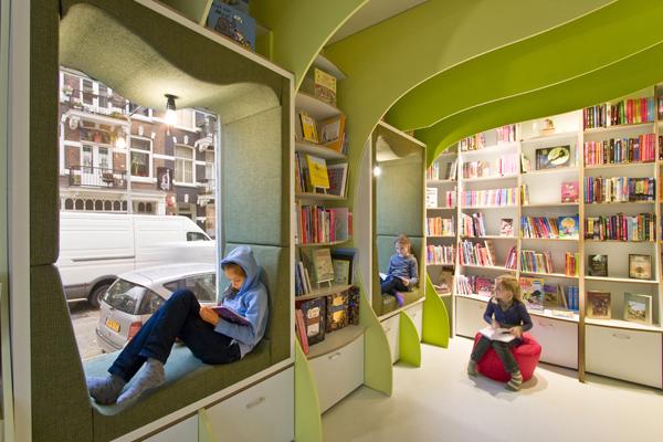 Mi libroteka una librer a en amsterdam casperle for Reading space design