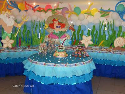 veamos algunas ideas de decoracin de fiestas infantiles de ariel with imagenes de decoracion de fiestas infantiles