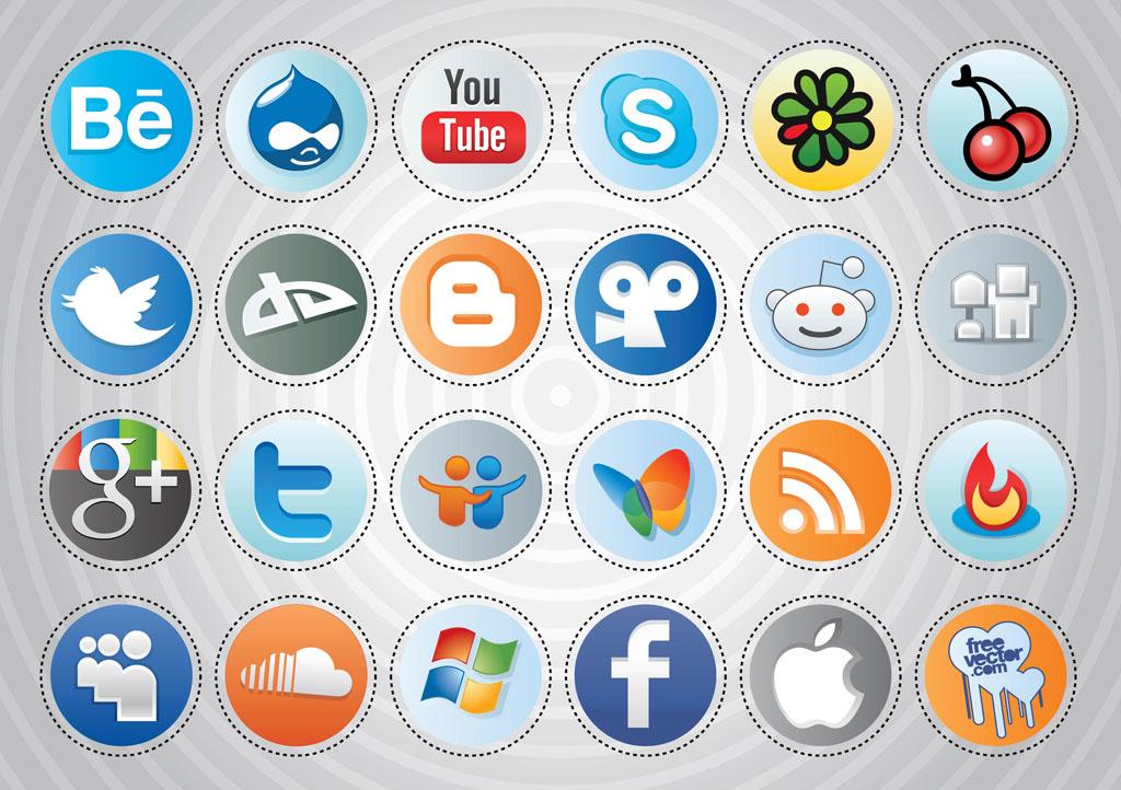 ソーシャル メディア ボタンsocial media buttons