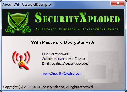 [ ������ ] : ���� WiFi Password Decryptor 2.5 ���� ������ ����� �������� ������ �����