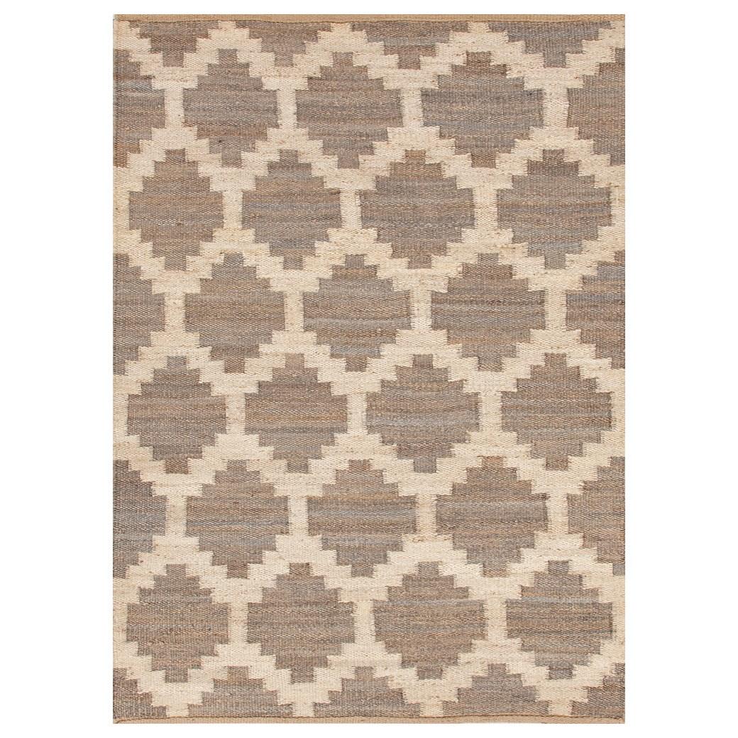 Zinc Door Jaipur Feza Souk Gray Flat Weave Rug
