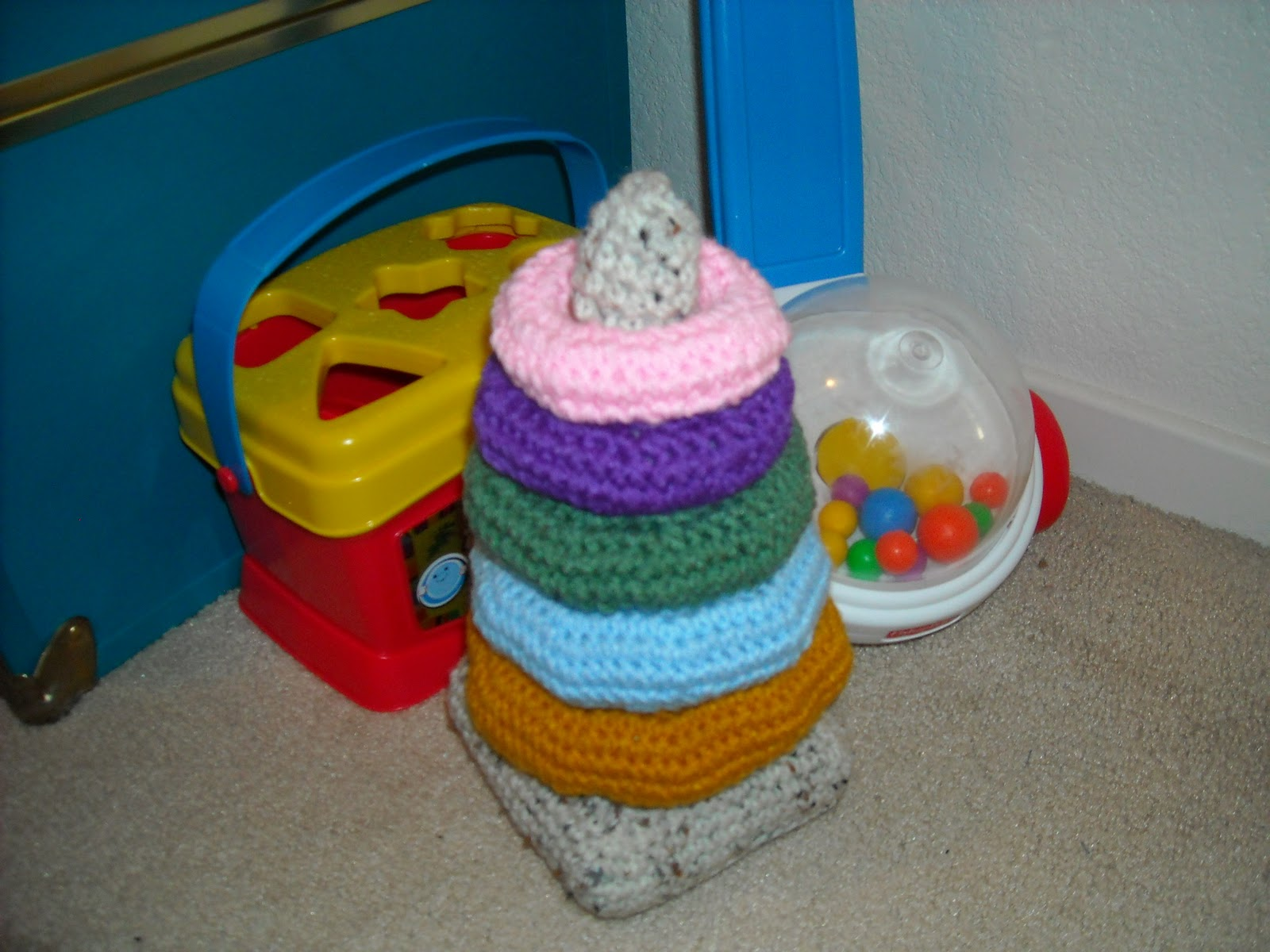 Crafty Cook: Crochet Baby Ring Stacking Toy - Part 1, The Rings