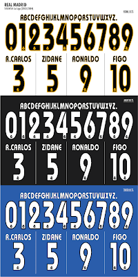 Real Madrid 2003-04 season team font
