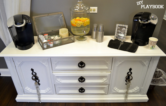 This old flea market dresser got a makeover with some new paint and hardware