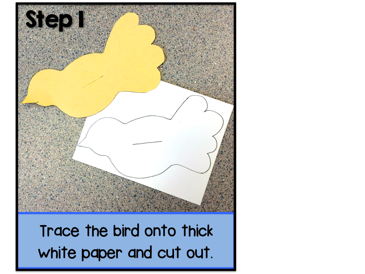Step by step directions to make this lovely white dove art project