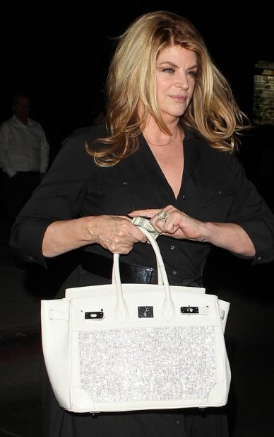 ab1fa1aeadd0 My Birkin Blog: Kirstie Alley Carries a Fake Birkin Bag