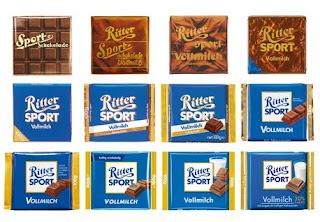 Evolution of Ritter Sport Chocolate packaging