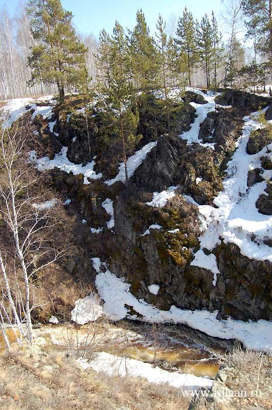 Водопад Ольгин. Река Межовка. Челябинская область.
