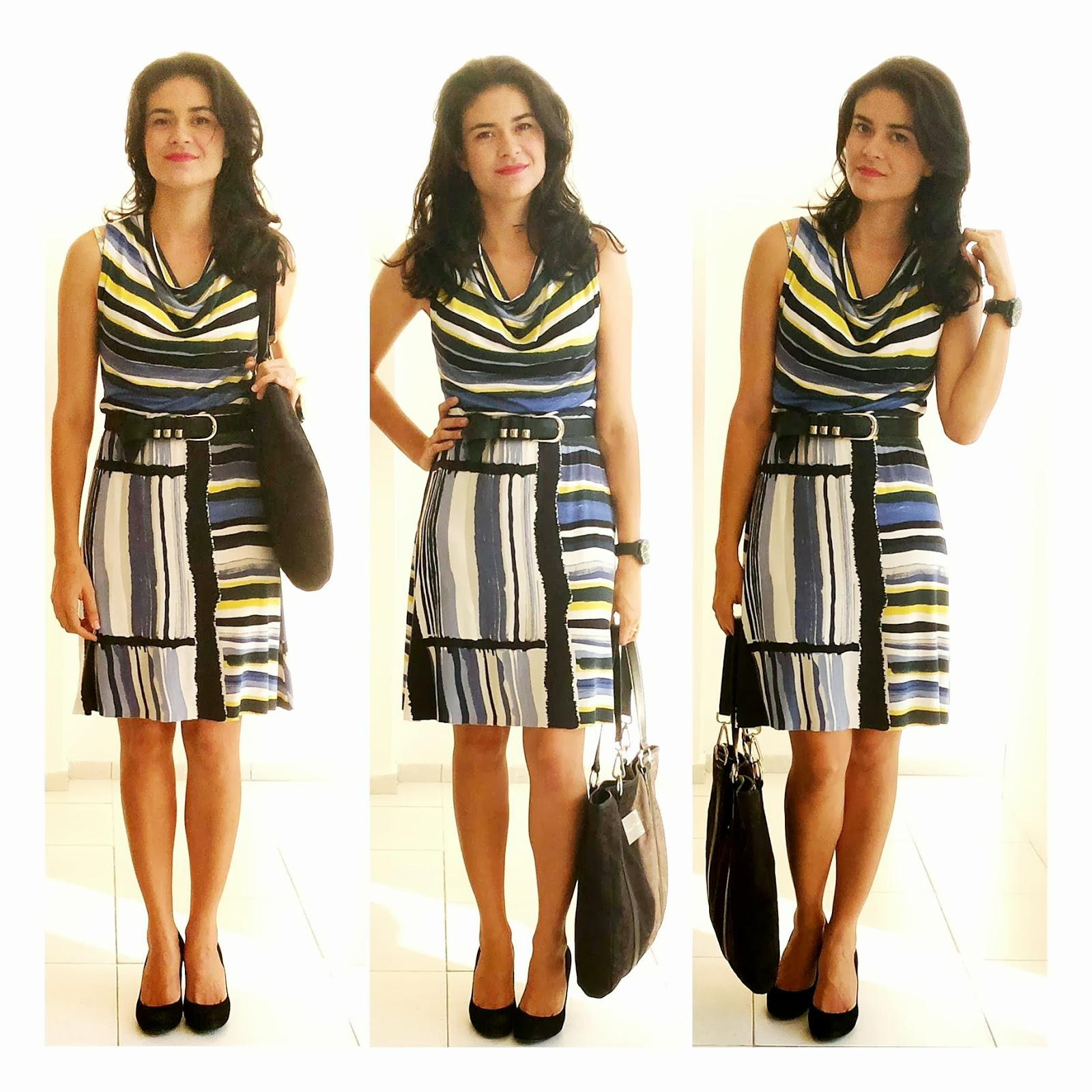 : Minha Velha Roupa Nova : Look 116 Vestido Estampa Artsy #4B5A80 1600x1600