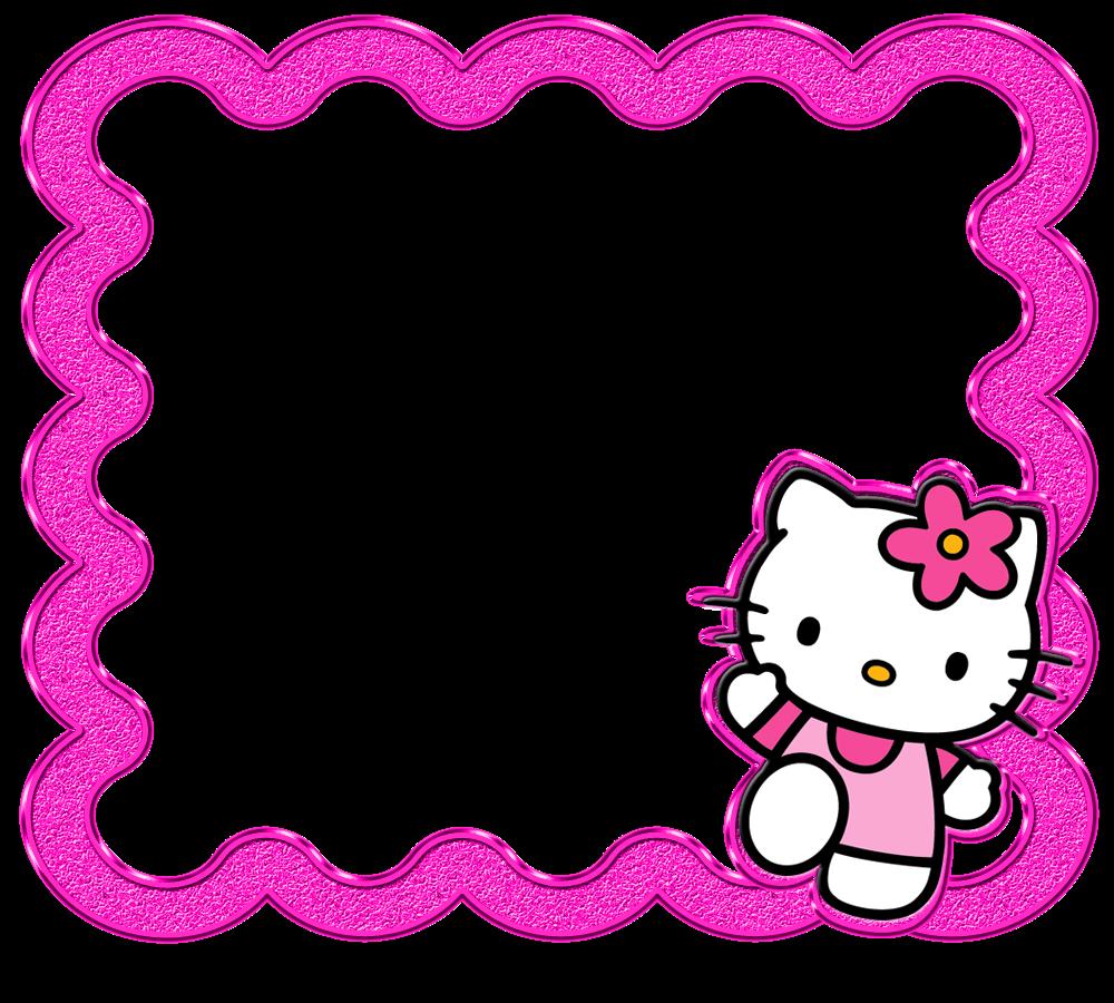 Delicados Marcos de Hello Kitty, todos en Png.