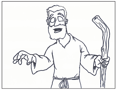 jesus healing blind man coloring page
