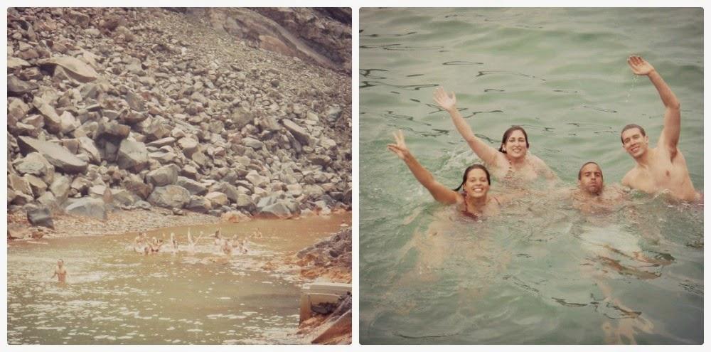 Nadar en Santorini Grecia