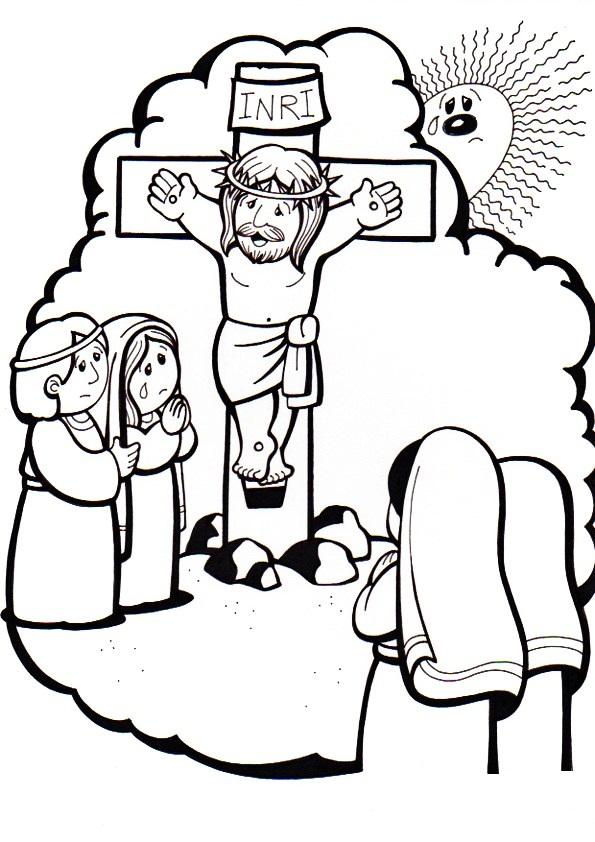 El Rincón de las Melli: 12º ESTACION: Jesús en la cruz junto a su ...
