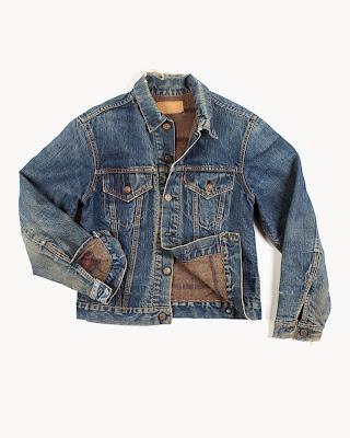 Vintage Big E Denim Jacket Blanket Lined At TenueDeNimes