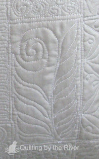 free-motion quilted flower sample