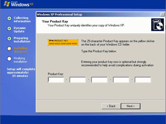 memasukan kode windows