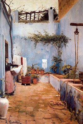 El pati blau (Santiago Rusiñol)