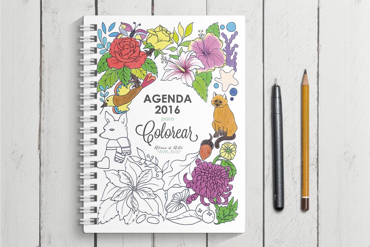 Agenda 2016 para colorear - Odisea gráfica