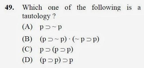 2012 December UGC NET in Philosophy, Paper III, Question 49