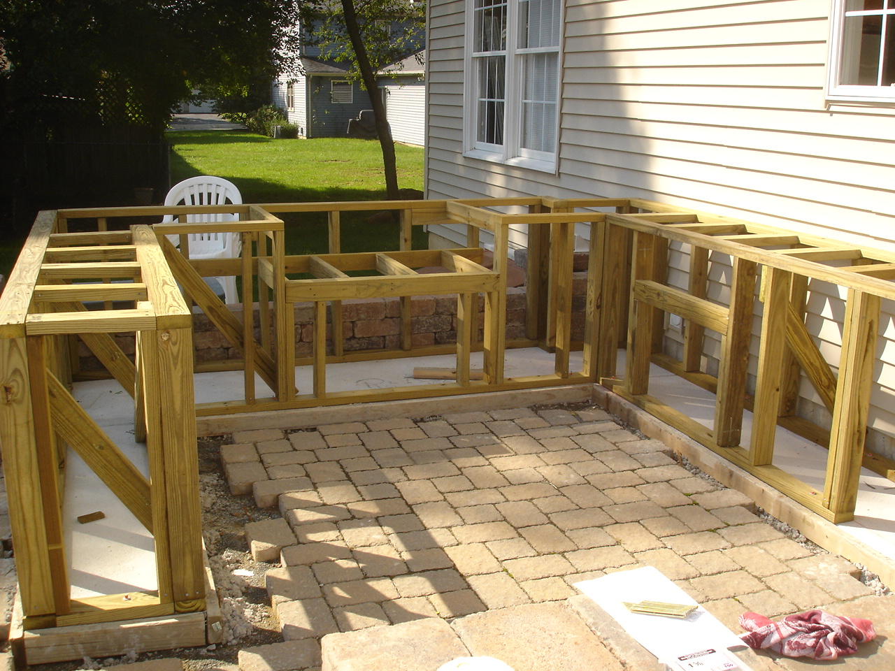 Outdoor Grilling Bar Construction : Nj home improvement outdoor bar and grill