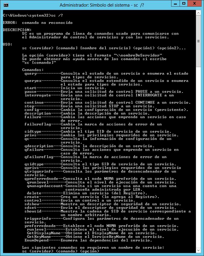 Configurar el inicio de un programa como servicio