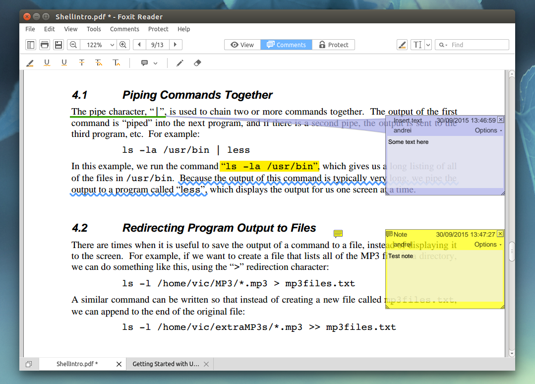 Add comments to pdf linux download