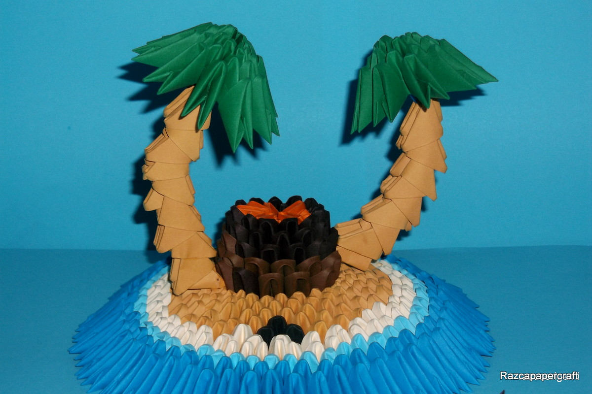 I Hope You Liked My 3D Origami Tropical Island