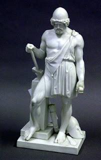 god Hephaestus statue
