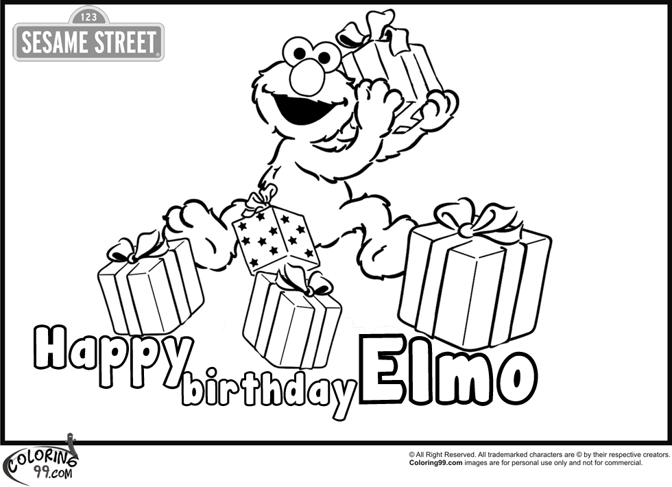 Elmo 2 Coloring Pages