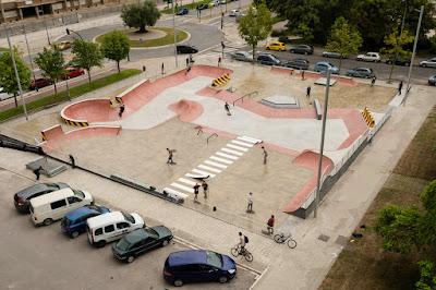 vista general del skatepark actual