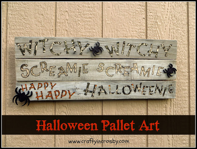 Witchie Witchie Screamie Screamie Happy Happy Halloweenie, Pallet Art, Cricut Art, Halloween Sign