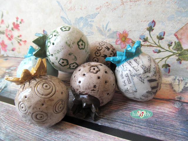 hillovely,hilla bushari,fimo,free tutorial fimo, polymer clay tutorial, ,Pomegranate , Rosh hashana