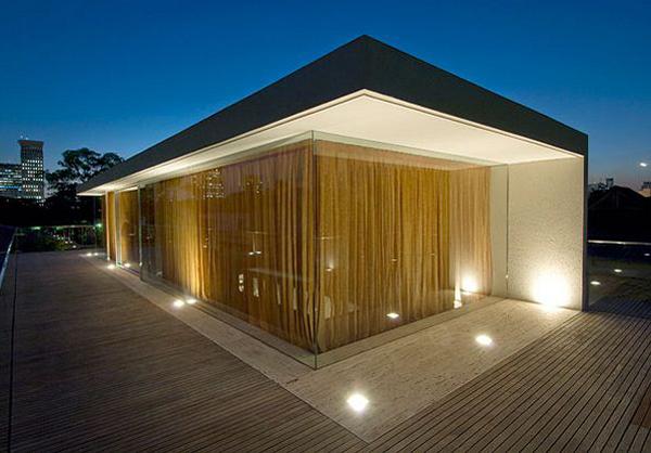Casa con fachada de madera y cemento todo sobre fachadas - Casas de cemento y madera ...