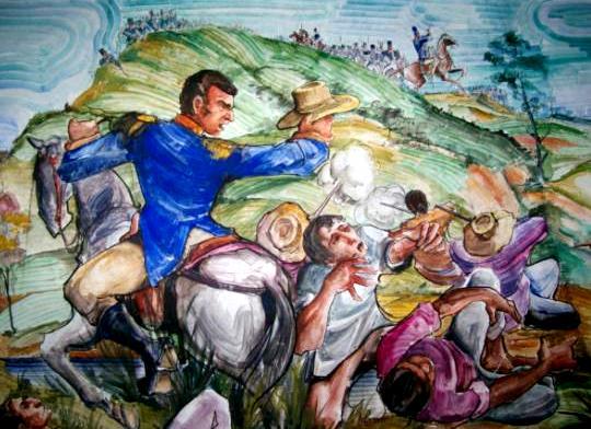 Ilustración de la Batalla de Pichincha