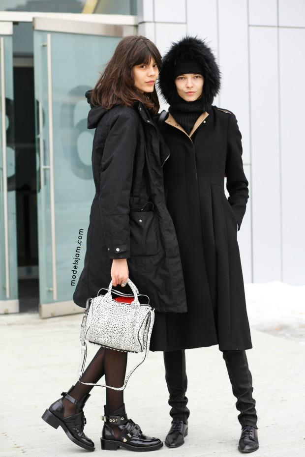 Ewa Wladymiruk and Mina Cvetkovic, New York, February 2015
