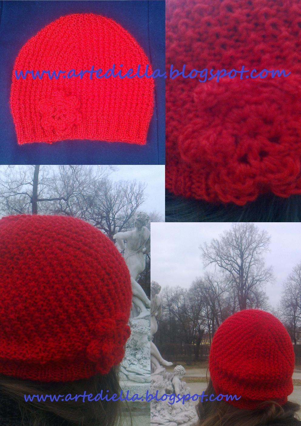 Le fragole di stoffa schema modello cappello di lana a i - Fiore collegare i punti ...