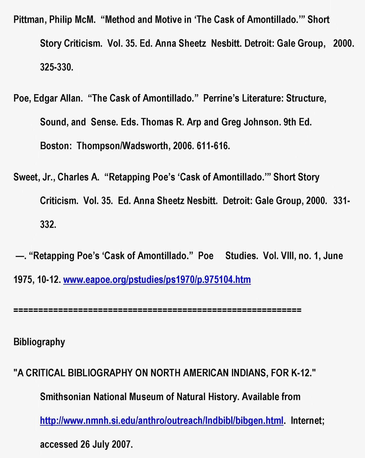 apa format works cited page