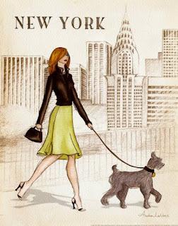 Chica en Nueva York  Chicas y ciudades para imprimir