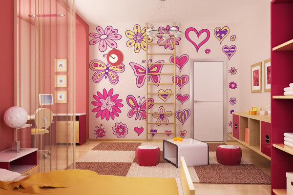 Ideas : cuartos decorados para chicas