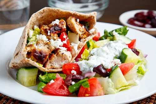 Chicken Souvlaki Salad Pita