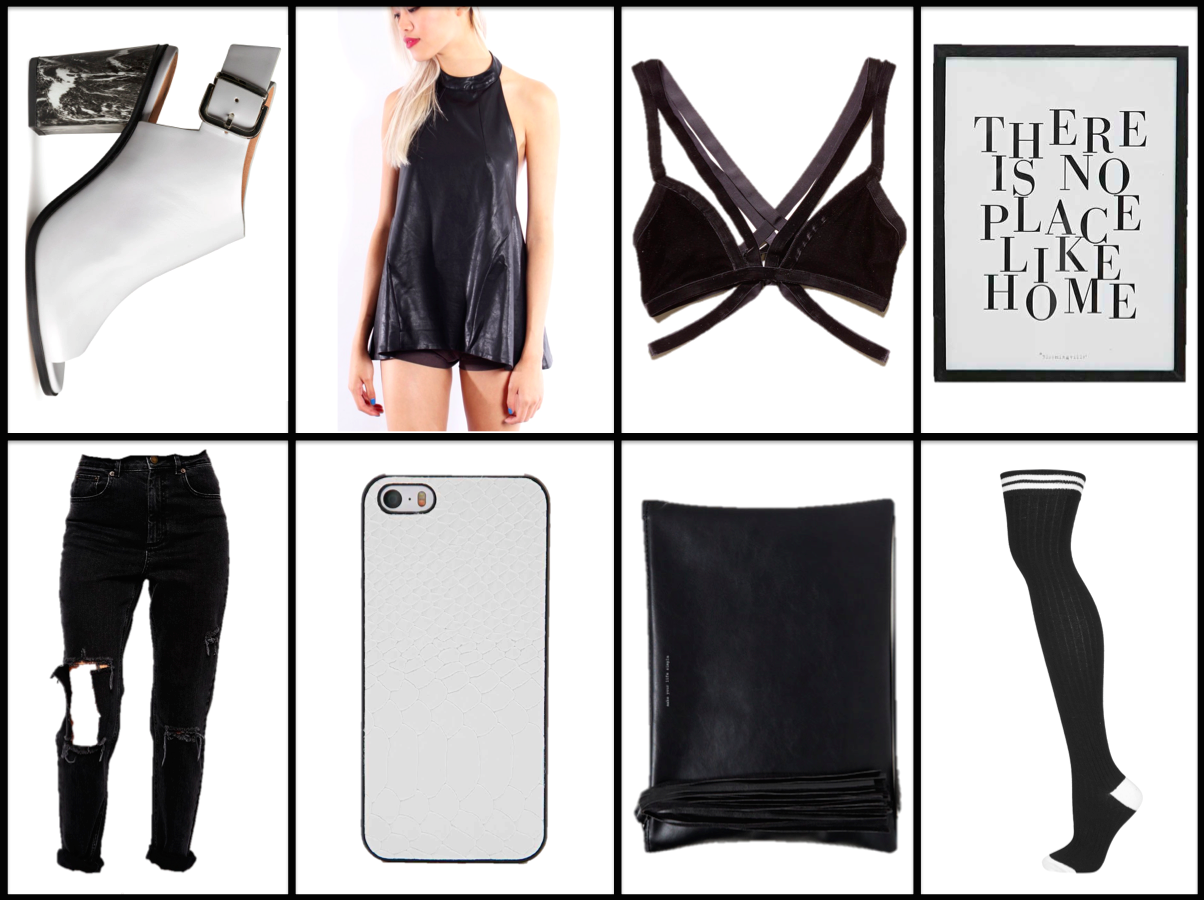 monochrome, black and white, fashion, wish list, blogger