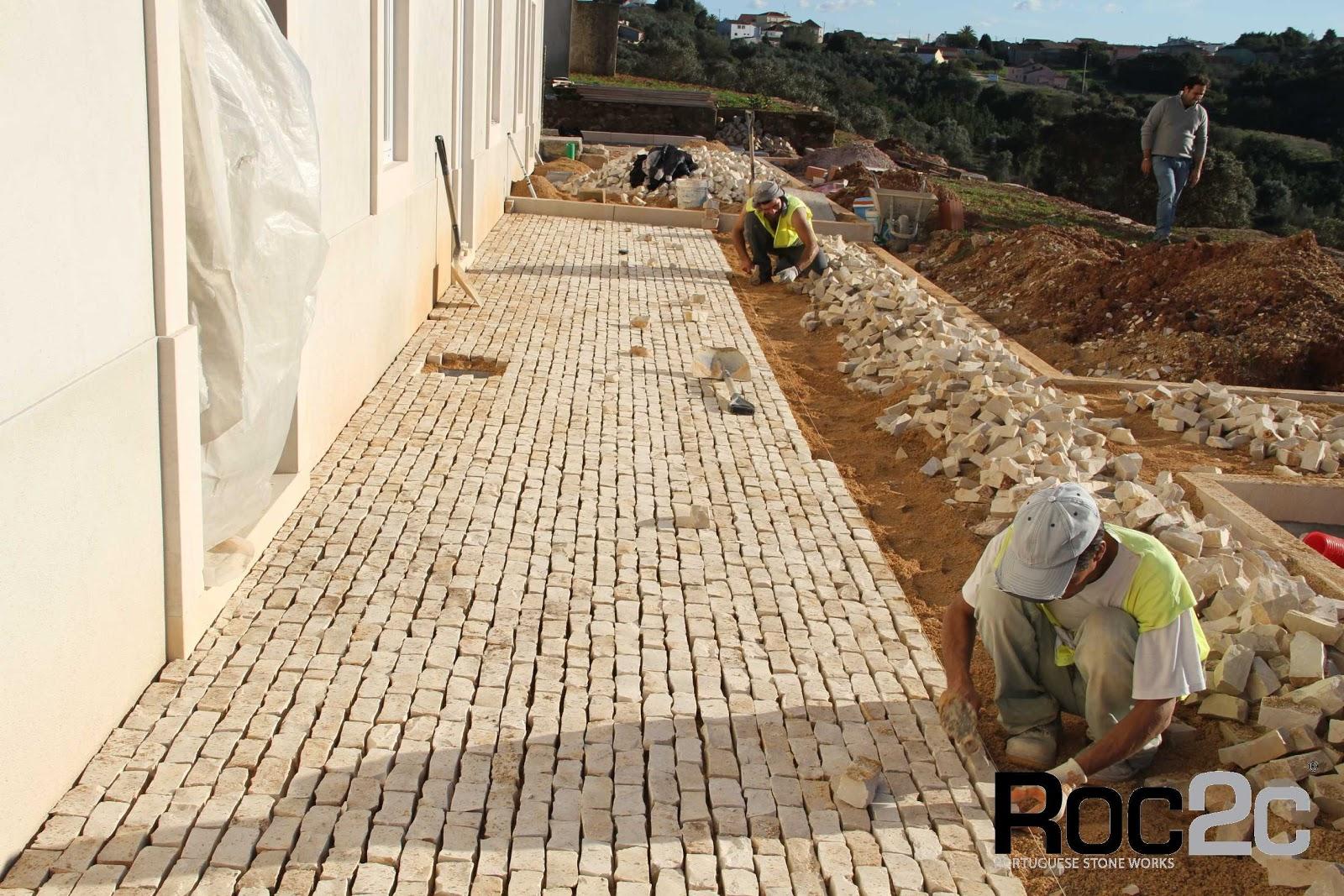 Cal ada portuguesa trabalho roc2c em execu o for Pavimentos ecologicos para exteriores