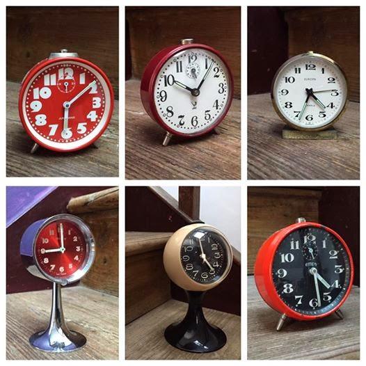 relógios, vintage, despertadores, decoração vintage