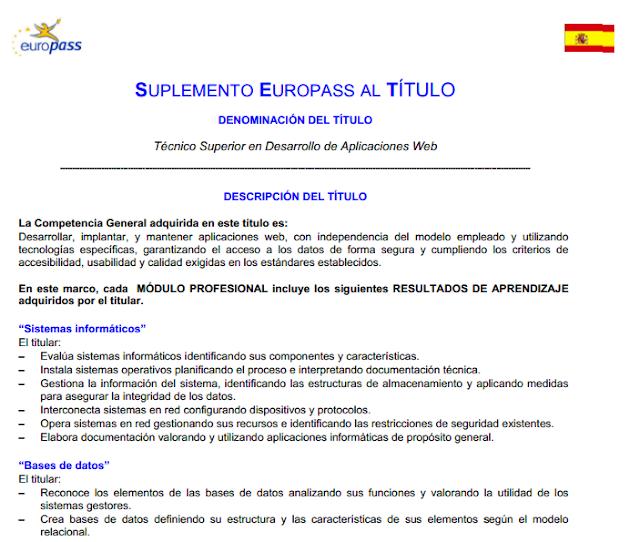 suplemento español