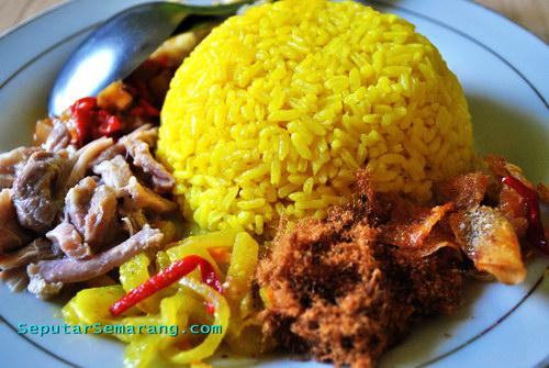 Nasi Kuning at Kampung Nasi