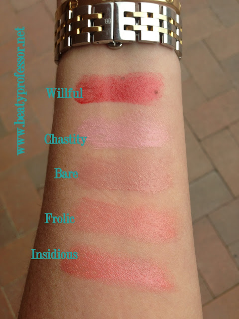 tom ford lip shines swatches