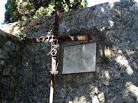 L'espai del cementiri de Riells on està enterrat Mossèn Pere Ribot